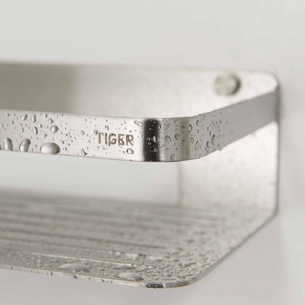 tiger ablage f r dusche caddy silbern 1400030946 online. Black Bedroom Furniture Sets. Home Design Ideas